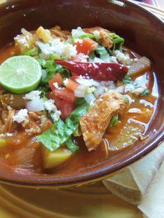 "Chicken Enchilada Soup with Chayotes (aka ""Mexican squash"") - Hispanic Kitchen"
