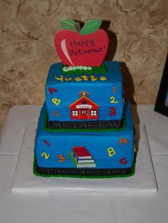 Retirement Cake for Kindergarten teacher