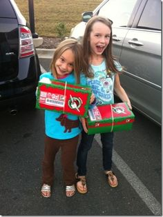christmas shoe box service project