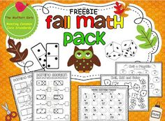 Fall Math Pack Freebie