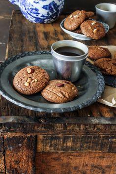 Chocolate Almond Ginger Cookies | Sugar et al