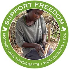 @WorldCrafts Support Freedom Stories {Mother Care Handcrafts ~ Kenya} Group helps more than 400 disadvantaged artisans earn a fair wage by using their skills in the centuries-old traditions of carving, jewelry making, and basket making. Among artisans are women who have been rescued from prostitution thanks to the jobs Mother Care can offer. Sales provide artisans a way to feed their families while giving them a chance to hear the offer of eternal life. #WCArtisans #fairtrade #supportfreedom