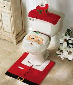Jolly Santa Clause #Bathroom Decorations. - remodelworks.com
