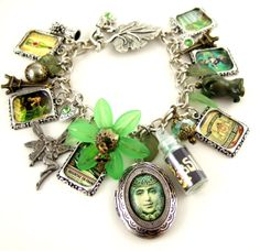 Absinthe Bracelet La Fee Verte Charm Bracelet The Green Fairy Absinthe Jewellery UK Absinthe Jewelry