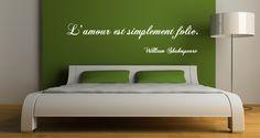 Sticker Citation L'amour selon Shakespeare