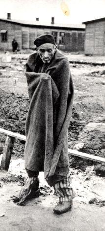 Dachau, Germany, 1945, A survivor, after the liberation.