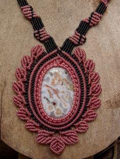 Macrame Necklace Pendant Garden Quartz Stone Gemstone Handmade Handcrafted | eBay