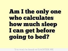 Sleep calculations