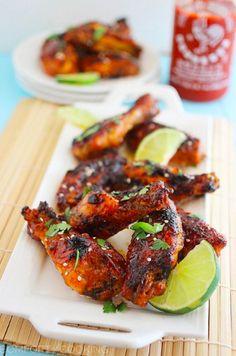 Baked Honey Sriracha Chicken Wings from bustle.com