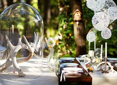 Antler Wedding Decoration - A Lively Centerpiece