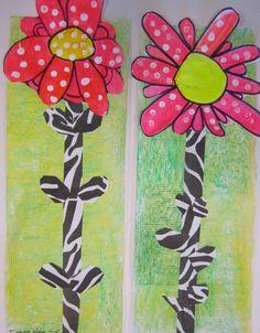 art idea, spring art, second grade