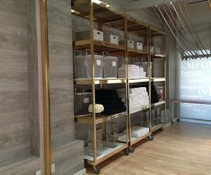 Brass-Plated Industrial Shelving