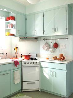 stove, red kitchen, dream design, cabinet colors, mint kitchens, kitchen colors, little kitchen, accent decor, kitchen cabinets