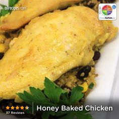 Honey Baked Chicken from Allrecipes.com #myplate #protein