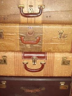 Walnut & Vine:                              some of my suitcase collection