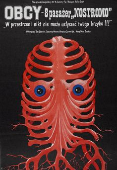 Alien movie poster from Poland. Apparently based on the original Alien movie.