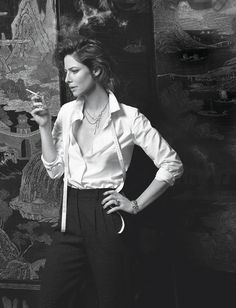 Anna Mouglalis anna mouglalis chanel, coco chanel, fashion, white design, friends, diamond, white shirt, gabriell chanel, black