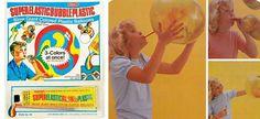 Vintage Toy Box: 1970s Super Elastic Bubble Plastic. Blow giant colored plastic balloons!