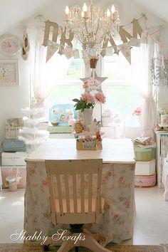 Darling craft room