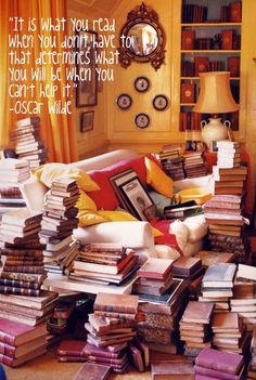 """""""It is what you read when you don't have to that determines what you will be when you can't help it."""" ~ Oscar Wilde"""