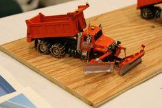 International S-1900 snow plow truck