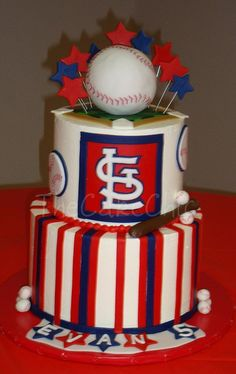 St. Louis Cardinals cake! Love! http://pinterest.net-pin.info/