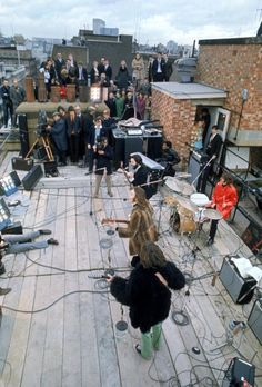Filming of The Beatles' final public performance, on the roof of the Apple offices - The Beatles