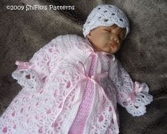 Baby Crochet Pattern Boy Girl Christening Suit, Dress, Cap Crochet Pattern DIGITAL DOWNLOAD 120 on Etsy, $3.99