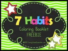 7 Habits Coloring Booklet FREEBIE- Savvy School Counselor