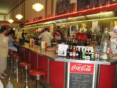 The  5&10 Kresge soda fountain. The store we'd go to had squeaky wooden floors.
