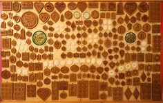 display of over 100 springerle molds made by Anis-Paradies of Switzerland