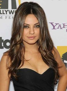 long brunette hairstyles    Mila Kunis Long, Sophisticated, Brunette Hairstyle - Beauty Riot