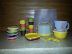 toy miniserveit, vintage toy tupperware, children toy, toy dish, tupperwar toy, vintag toy