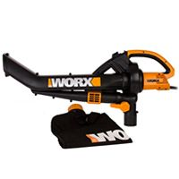 The WORX WG500 has the versatility to change jobs with just the flip of a switch. There are no tubes to switch between tasks, so you can blow away debris at 210 mph, then easily change to vacuuming dry leaves at up to 14 gallons per minute. The angled nose makes it easy to clear low areas and to reach under decks and furniture.    The WORX WG500 electric leaf blower brings three functions together in one compact, lightweight machine: a great blower; a handy mulcher; and a powerful yard vac.