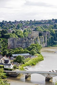 Chepstow Castle - Wales - 1067 - Sits on top of cliffs overlooking the River Wye and is the oldest surviving post-Roman stone fortification in Britain.