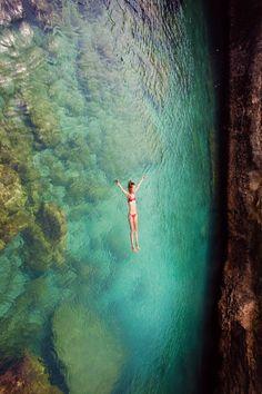 floating