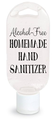 Make Your Own Natural Alcohol-Free Hand Sanitizer - One Good Thing by Jillee