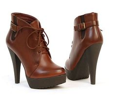 ADIRAS LACE UP BOOTIE BY CHARLES DAVID CONGAC