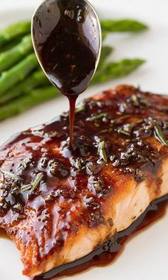 Easy Balsamic Glazed Salmon