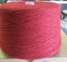 Machine Knitting Cone Yarn Bright Cranberry 2/17 by stephaniesyarn, $24.43