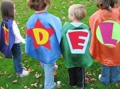 Superhero capes and masks from etsy