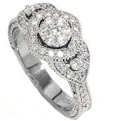 vintage engagement rings, diamond engag, diamond rings, 14k white, anniversary rings, diamonds, white gold, engag anniversari, antiques