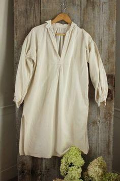 Linen nightdress French smock