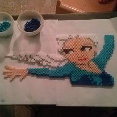 Elsa Frozen perler beads by bamallette