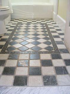 bathroom floor idea