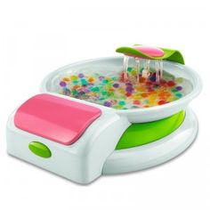 The Orbeez Hand Spa can be filled with Orbeez and water to give your hands a relaxing spa day at home.