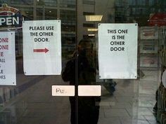 In case you weren't sure which door they were talking about…