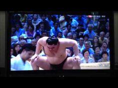 Goliath Baruto (198 cms, 185 kilos) takes on super-agile Harumafuji