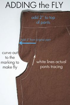 A great tutorial for sewing a pair of pants for the boys but the nice thing is that she goes into detail on how to add a faux fly.