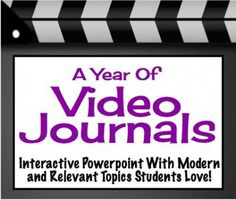 Video Journal Writing: 40 Slides Of Engaging Topics, Response Sheet, & Rubric from Presto Plans on TeachersNotebook.com -  (43 pages)  - Get your students' attention with these engaging video writing prompts!  The videos and prompts are modern and relevant to the 21st Century student.